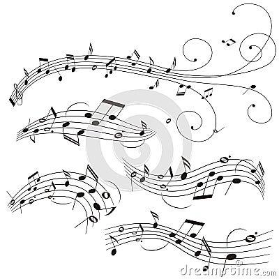 Ilustração da pauta musical