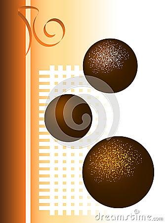 Ilustração da trufa de chocolate