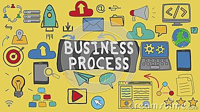 Ilustração de conceito de gráfico e processo de negócios video estoque