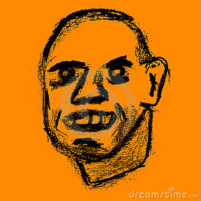 Ilustração de sorriso feliz do homem