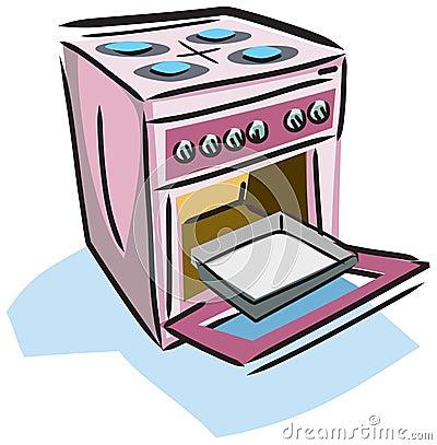 Ilustração de um fogão
