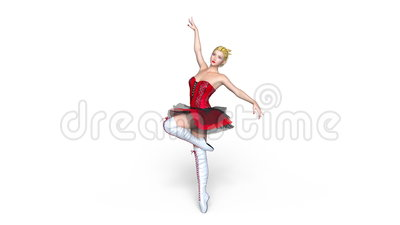 Ilustração do bailado dancer ilustração royalty free