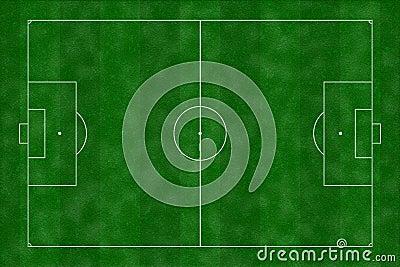 Ilustração do campo de futebol