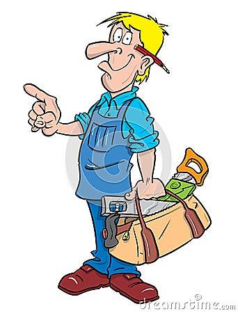 Ilustração do carpinteiro ou do trabalhador manual