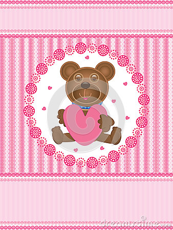 Amor Card_eps do urso de peluche