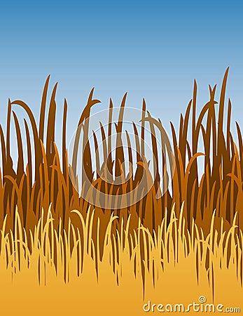 Cartoon Jungle Grass Ilustra��o do vetor da grama