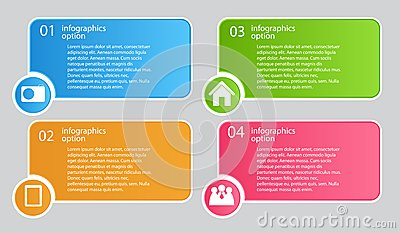 Ilustração do vetor do molde do negócio de Infographic