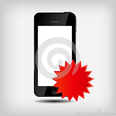 Ilustración abstracta del vector del teléfono móvil