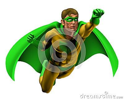 Ilustración asombrosa del super héroe