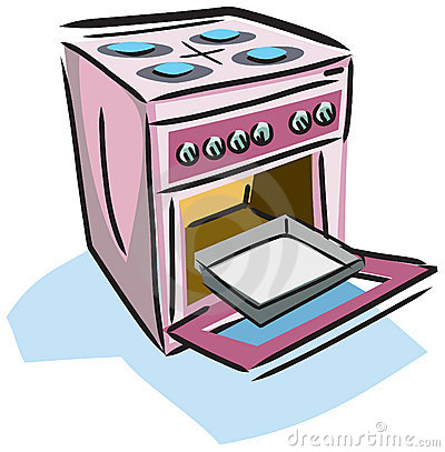 Ilustración de una estufa