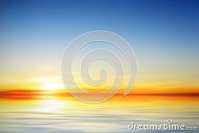 Ilustración de una puesta del sol tranquila hermosa