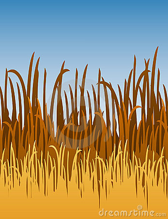 Cartoon Jungle Grass Ilustraci�n del vector de la