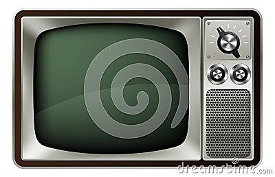 Ilustración retra de la TV