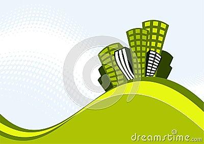 Ilustración retra de los edificios