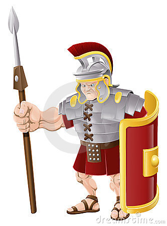 Ilustración romana fuerte del soldado
