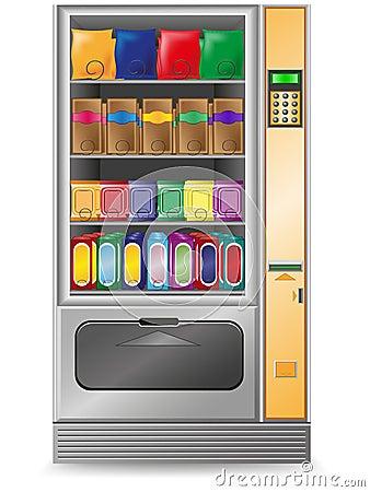 Ilustraci maszyny przekąski wektoru vending