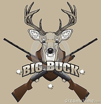 Ilustración de la caza de los ciervos