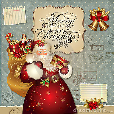 Ilustración de la Navidad con Papá Noel