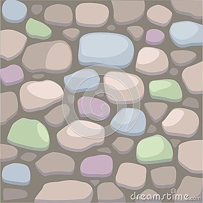 Ilustración De La Pared De Piedra Del Vector Foto de archivo ...