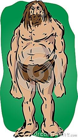 Ilustración del hombre de las cavernas