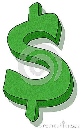 Ilustracja dolarowy znak