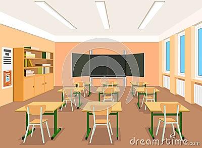 Ilustracja pusta sala lekcyjna