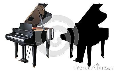 Ilustracyjny pianino