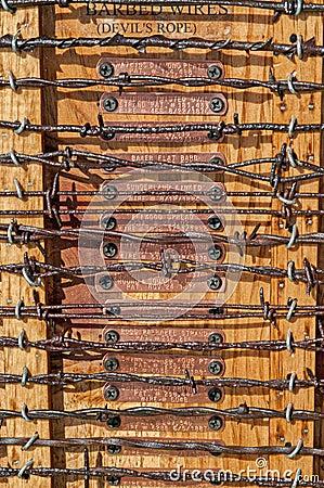 Teste padrão da rede de arame do espinho, área proibida ilustração ...