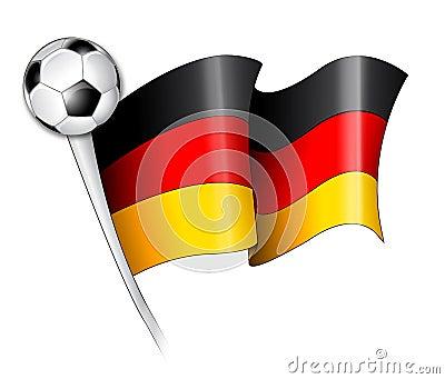 Ilustração alemão da bandeira do futebol