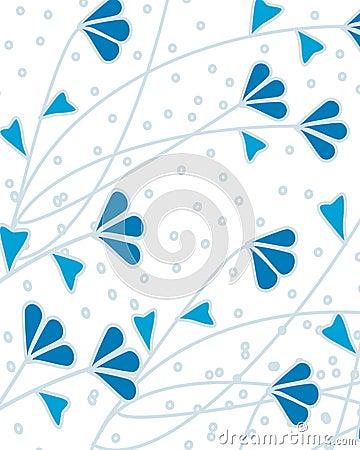 Ilustração azul da fauna