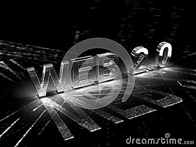 Ilustração do conceito do Web 2.0