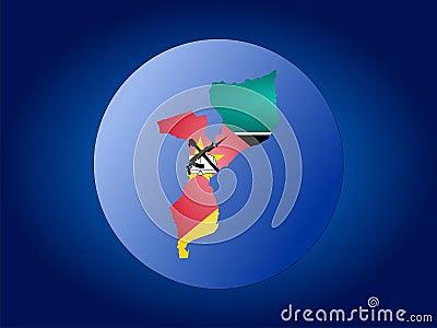 Ilustração do globo de Mozambique