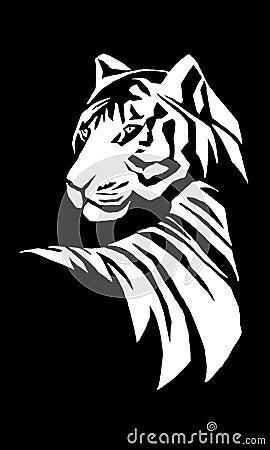 Ilustração do tigre de Bengal