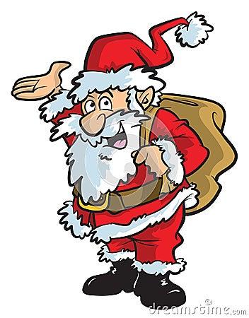 Ilustração dos desenhos animados de Santa