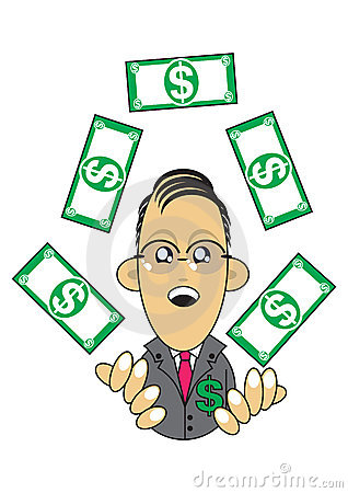 Ilustração rica do homem de negócios