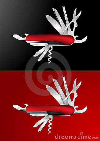Ilustração suíça do vetor da faca de exército