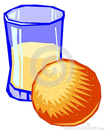 Ilustration of a glass of orange juice