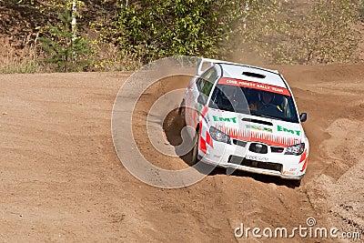 Ilya Hohlov drives a Subaru Impreza