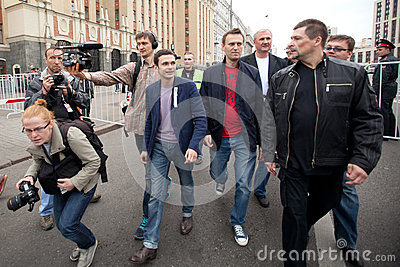 Ilya Yashin and Alexei Navalny Editorial Image