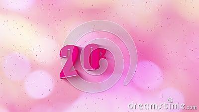 4.000 imágenes Feliz año nuevo 2020 con texto simple estilo sombra con color rosa negro animación Elemento gráfico de movimiento libre illustration
