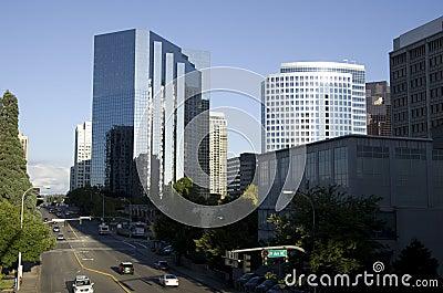 Im Stadtzentrum gelegenes Bellevue Redaktionelles Bild