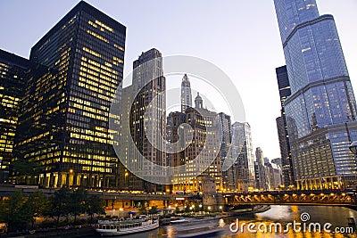 Im Stadtzentrum gelegenes Chicago