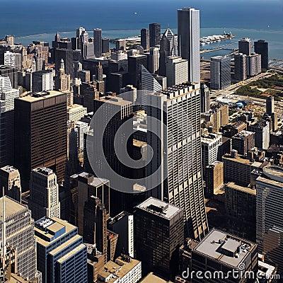 Im Stadtzentrum gelegenes Chicago - Illinois - USA