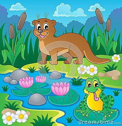 Image 1 de thème de faune de rivière
