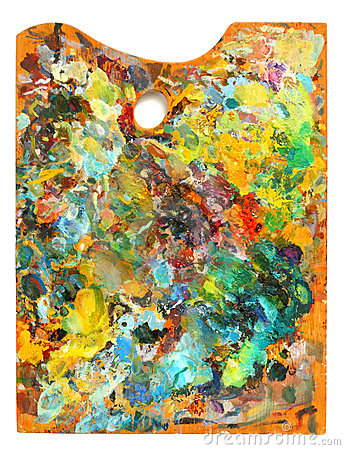Image of artist s palette