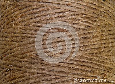 Image background coil of hemp thread
