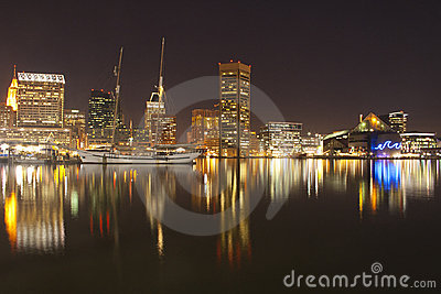 Image of beautiful Baltimore Maryland cityscape