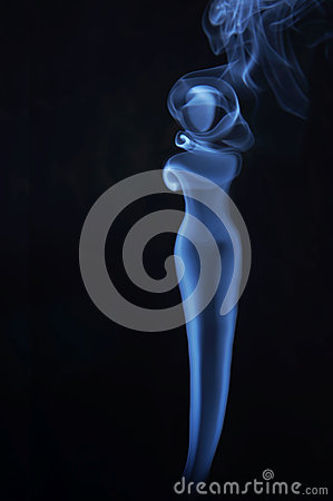 Image of beautiful lady made of fume