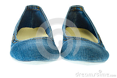 Image of blue jeans women fashion slippers