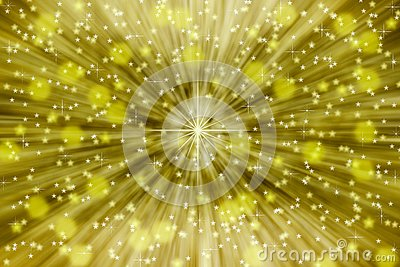 Golden Star Sparkles for Abstract Background Stock Photo